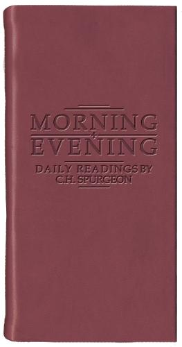 Morning And Evening - Matt Burgundy - Daily Readings (Leather / fine binding)
