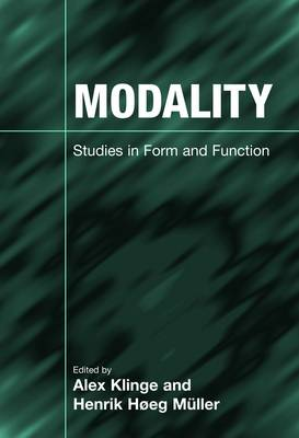 Modality: Studies in Form and Function (Paperback)