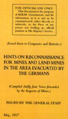 Hints on Reconnaissance for Mines and Land Mines in the Area Evacuated by the Germans 2004 (Paperback)