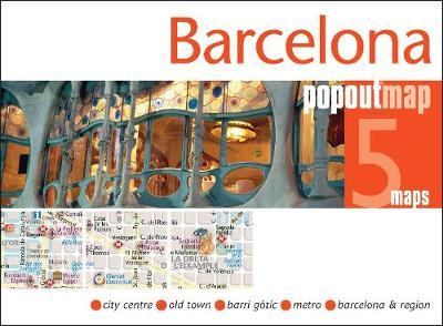 Barcelona PopOut Map - PopOut Maps (Sheet map, folded)