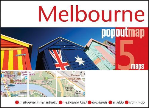Melbourne PopOut Map - PopOut Maps (Sheet map, folded)