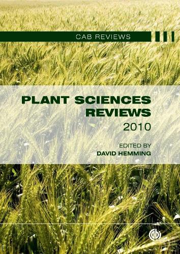Plant Sciences Reviews 2010 - CAB Reviews (Hardback)