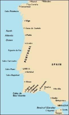 Cabo Finisterre to Gibraltar Passage Chart 2007 - Imray C.Chart C19 (Sheet map, folded)