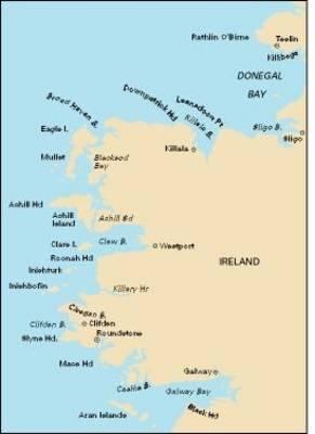 Imray Chart C54 2007: Galway Bay to Donegal Bay - Imray C.Chart C54 (Sheet map, folded)