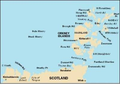 Imray Chart C68: Cape Wrath to Wick and the Orkney Islands (Sheet map, flat)