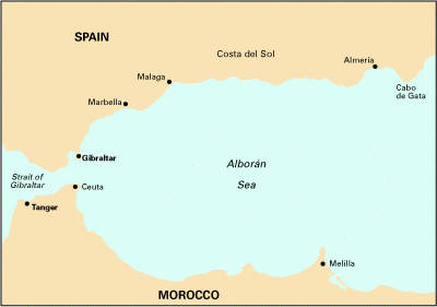 Imray Chart M11: Gibraltar to Cabo De Gata and Morocco (Sheet map, folded)