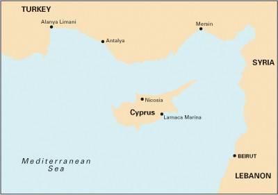 Imray Chart M21: Eastern Mediterranean Passage Chart - South Coast of Turkey, Syria, Lebanon & Cyprus (Sheet map, folded)