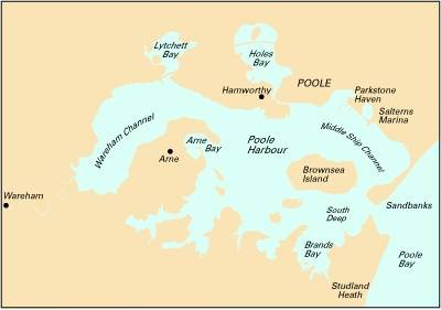 Imray Chart Y23: Poole Harbour (Sheet map, folded)