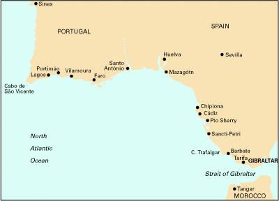 Imray Chart C50: Sines to Gibraltar (Sheet map, folded)