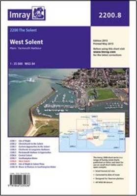 Imray Chart 2200.8: Laminated 2200.8 West Solent (Sheet map, flat)