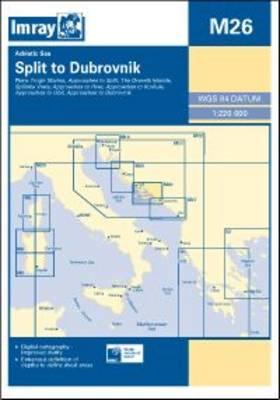 Imray Chart M26: Split to Dubrovnik (Sheet map, folded)