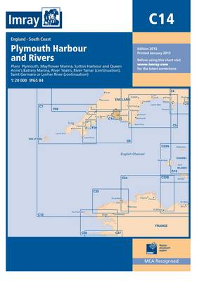 Imray Chart C14: Plymouth Harbour and Rivers (Sheet map, folded)