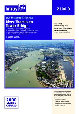 Imray Chart 2100.3: The River Thames - Tower Bridge to Canvey Island (Sheet map, folded)