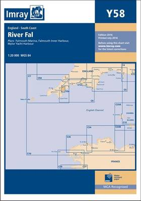 Imray Chart Y58: River Fal - Falmouth to Truro (Paperback)