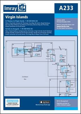 Imray Chart A233: Virgin Islands - Double-Sided Sheet Combining Charts A231 and A232 - Iolaire Charts 233 (Paperback)
