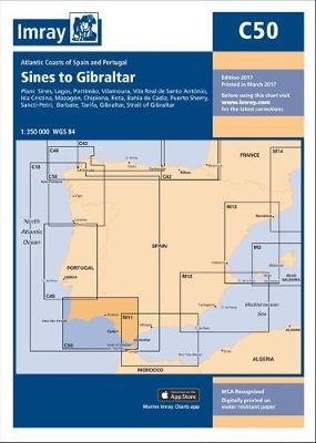 Imray Chart: Sines to Gibraltar - C Series 50 (Sheet map)