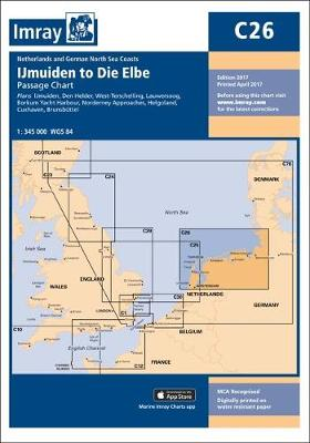 Imray Chart: Ijmuiden to Die Elbe - C Series 26 (Sheet map)