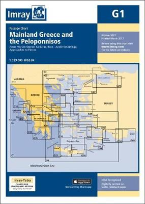 Imray Chart G1: Mainland Greece and the Peloponnisos - G Series 1 (Sheet map)