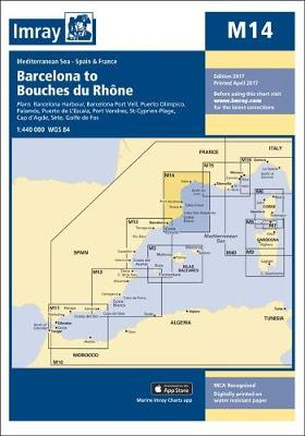 Imray Chart M14: Barcelona to Bouches Du Rhone - M Series 14 (Sheet map)