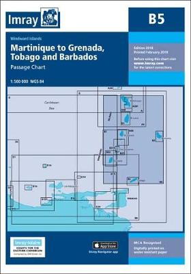 Imray Chart B5: Martinique to Tobago and Barbados Passage Chart - B Charts 5 (Paperback)