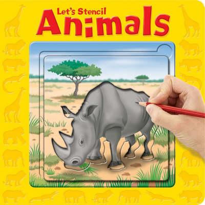 Animals - Let's Stencil (Board book)