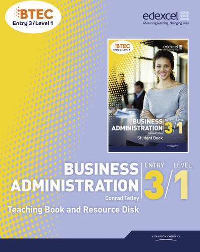BTEC Entry 3/Level 1 Business Administration Teaching Book and Resource Disk