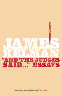 And the Judges Said...: Essays (Paperback)