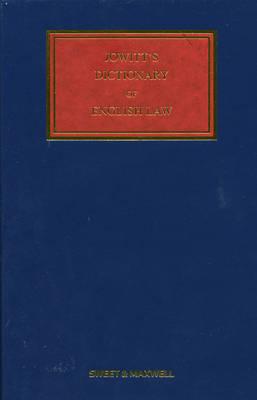 Jowitt's Dictionary of English Law (Hardback)