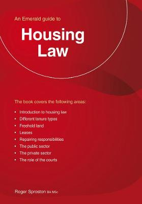 Housing Law: An Emerald Guide (Paperback)