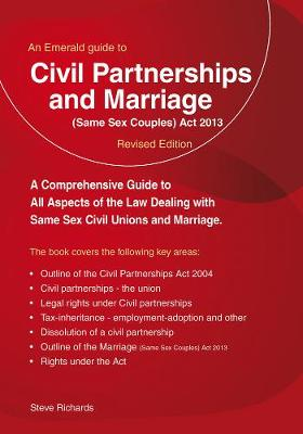 Civil Partnerships And (same Sex) Marriage (Paperback)
