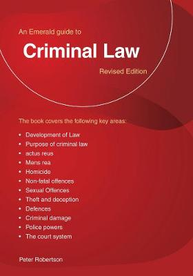 Criminal Law: An Emerald Guide (Paperback)