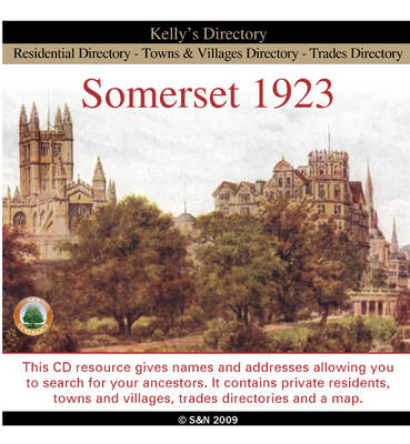 Somerset 1923 Kelly's Directory (CD-ROM)