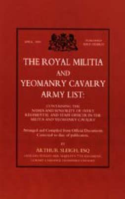 Royal Militia and Yeomanry Cavalry Army List 1991 (Hardback)