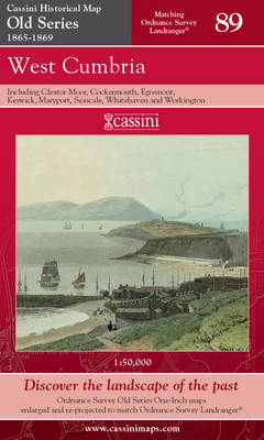 West Cumbria - Cassini Old Series Historical Map No. 89 (Sheet map, folded)