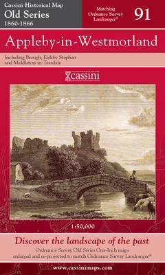 Appleby-in-Westmorland - Cassini Old Series Historical Map No. 91 (Sheet map, folded)