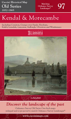 Kendal and Morecambe - Cassini Old Series Historical Map No. 97 (Sheet map, folded)