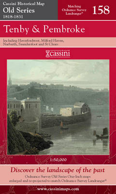 Tenby and Pembroke - Cassini Old Series Historical Map No. 158 (Sheet map, folded)