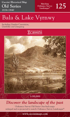 Bala and Lake Vyrnwy - Cassini Old Series Historical Map No. 125 (Sheet map, folded)