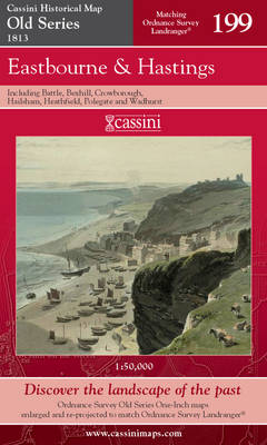 Eastbourne and Hastings - Cassini Old Series Historical Map No. 199 (Sheet map, folded)