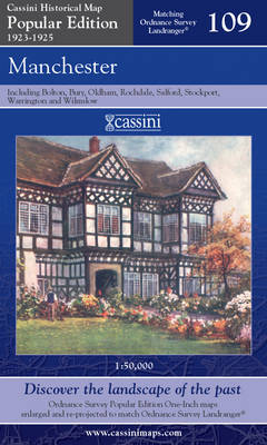 Manchester - Cassini Popular Edition Historical Map No. 109 (Sheet map, folded)