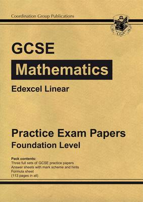 GCSE Maths Edexcel A (Linear) Practice Papers - Foundation (A*-G Resits) (Paperback)