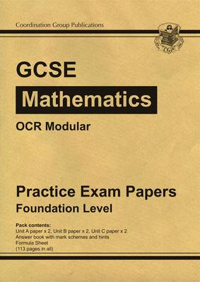 GCSE Maths OCR Modular Practice Papers - Foundation (Paperback)