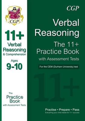 11+ Verbal Reasoning Practice Book with Assessment Tests (Ages 9-10) for the Cem Test (Paperback)