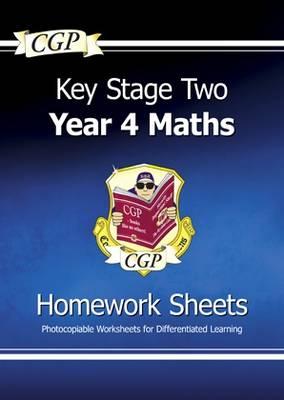 KS2 Maths Homework Sheets - Year 4 (Paperback)
