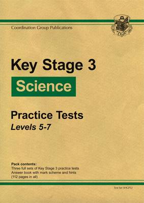 KS3 Science Green Practice Tests - Levels 5-7 (Paperback)