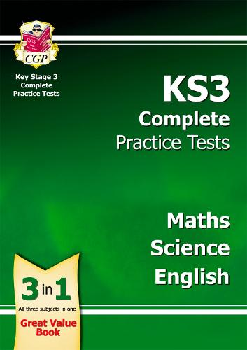 KS3 Complete Practice Tests - Science, Maths and English (Paperback)