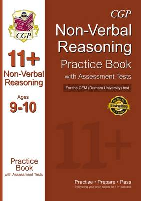 11+ Non-verbal Reasoning Practice Book with Assessment Tests (Age 9-10) for the CEM Test (Paperback)