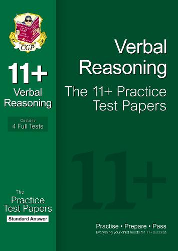 11+ Verbal Reasoning Practice Papers: Standard Answers (for GL & Other Test Providers) (Paperback)