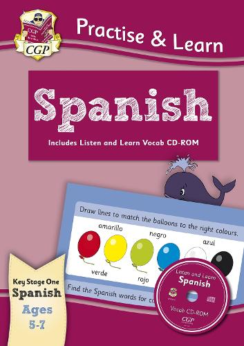 Practise & learn activity books with vocab CD-Rom: Spanish ages 5-7 (Paperback)