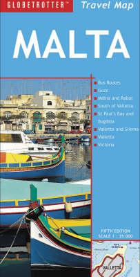 Malta - Globetrotter Travel Map (Sheet map, folded)